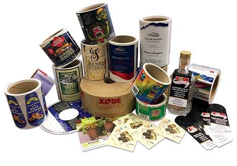Rolls of Xode Labels and Custom Products